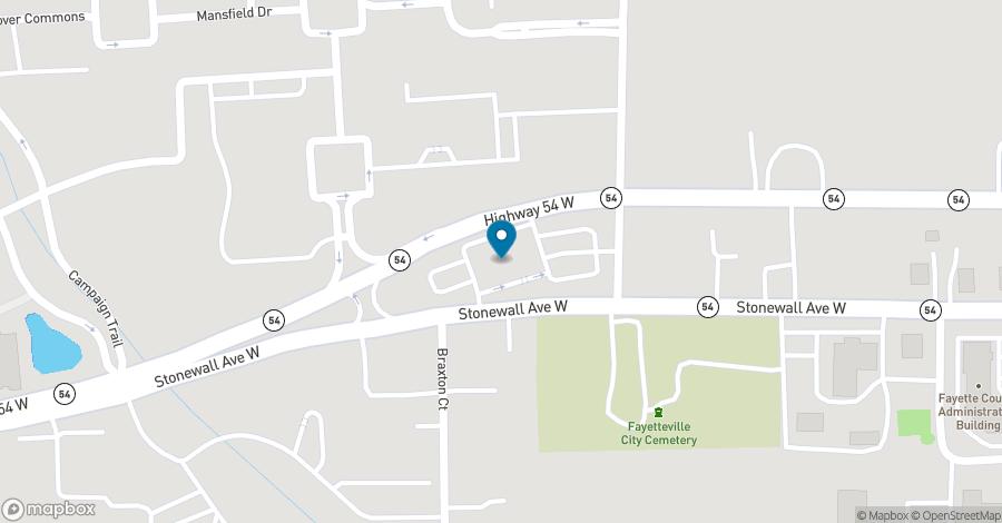Map of 320 W. Lanier Avenue in Fayetteville