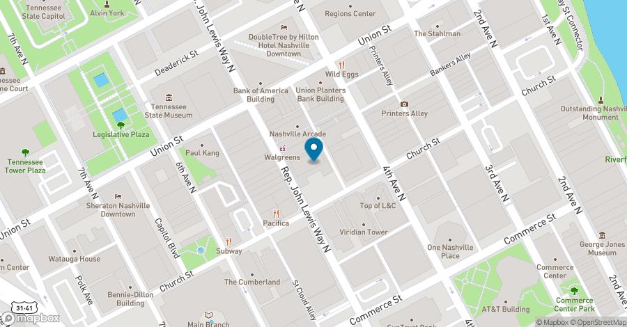 Map of 424 Church Street in Nashville