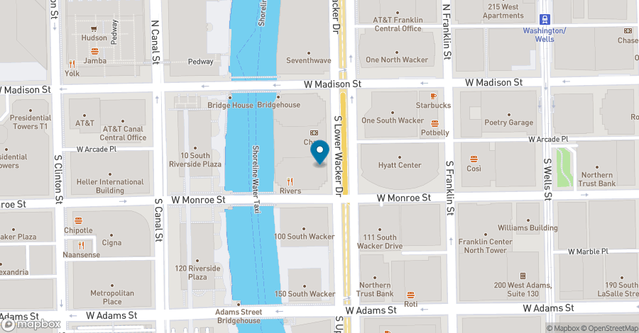 Map of 30 South Wacker Drive in Chicago