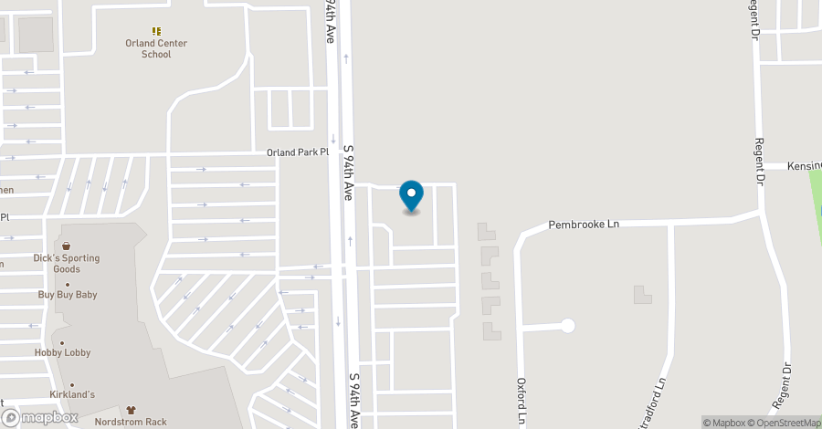 Map of 15255 S 94th Avenue in Orland Park