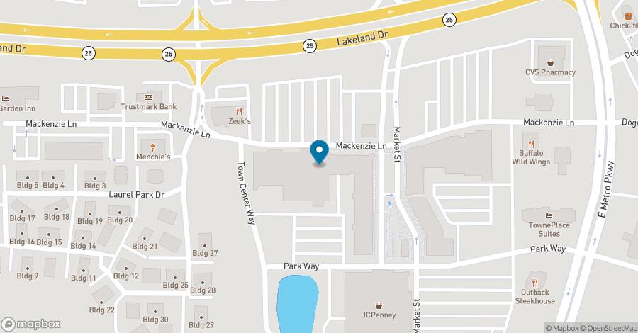 Map of 232 Market Street in Flowood