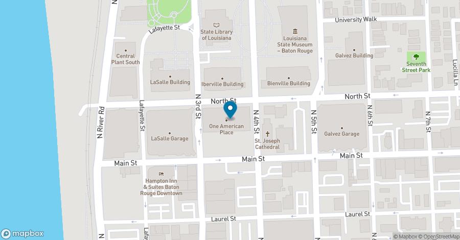Map of 301 N. Main Street in Baton Rouge