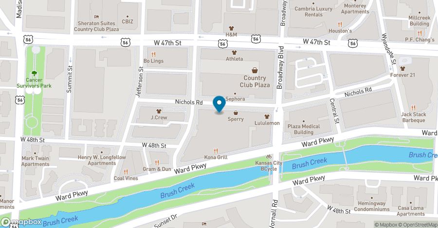 Map of 435 Nichols Road in Kansas City