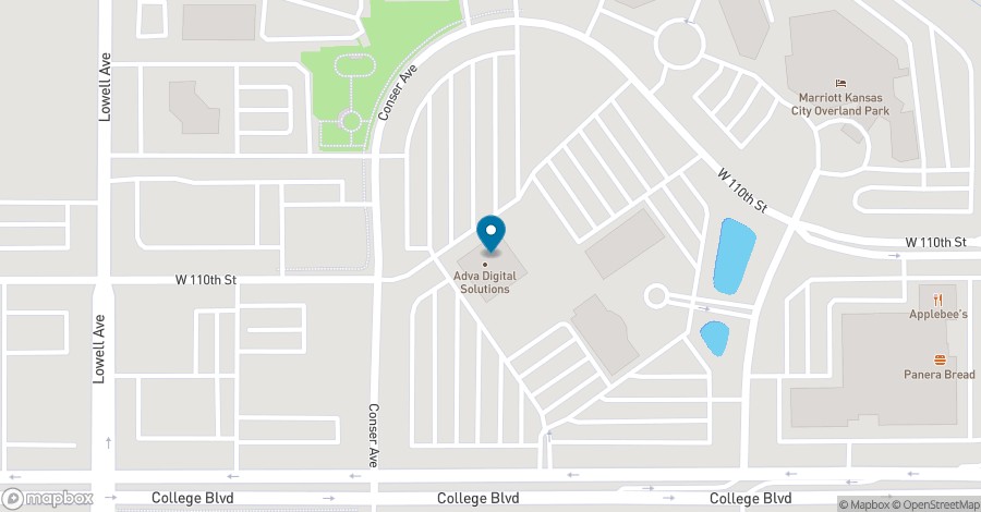 Map of 7500 College Blvd in Overland Park