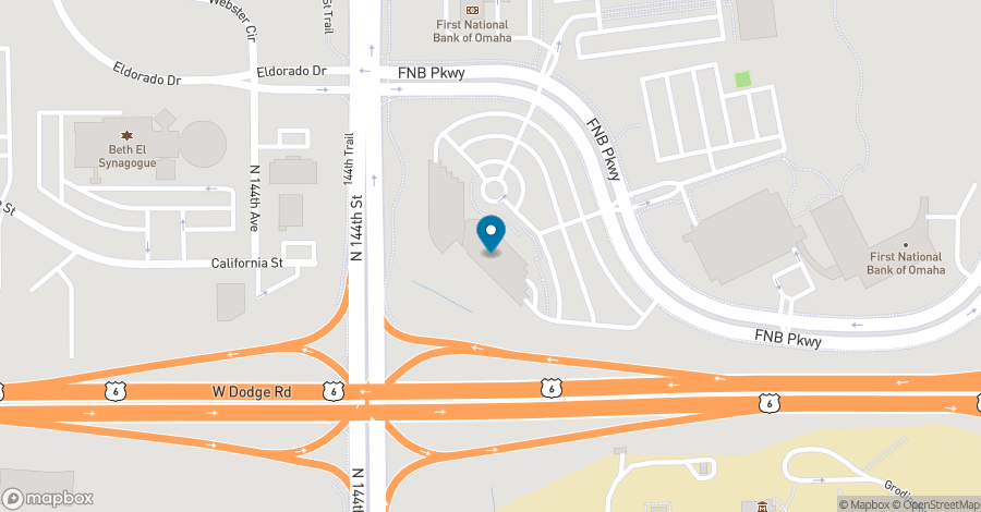 Map of 14301 FNB Parkway in Omaha