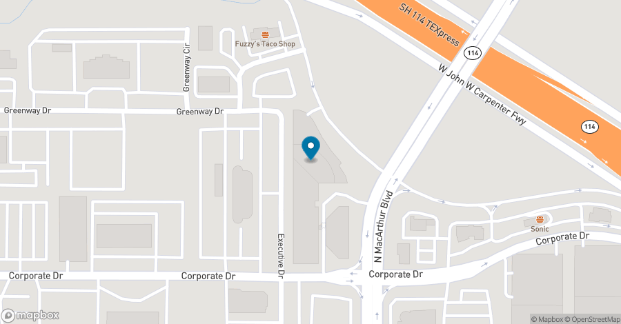 Map of 5605 North MacArthur Boulevard in Irving