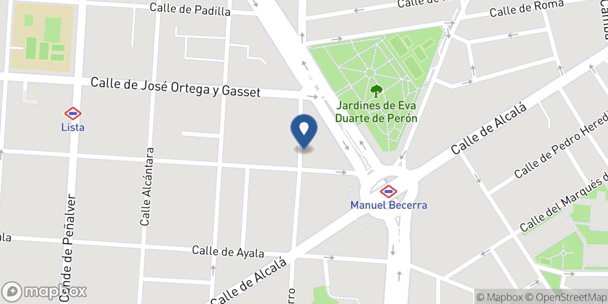 Mapbox Map of 2.1700873,41.3883768