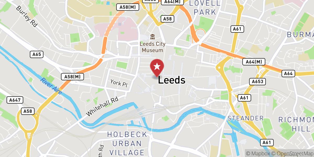 Mapbox Map of -1.5461533588443623,53.797560187473685