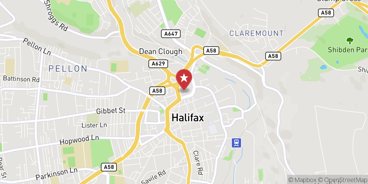 Mapbox Map of -1.8610031901724944,53.725042827201804
