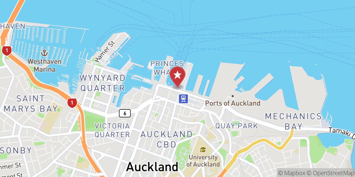 Mapbox Map of 174.766846,-36.842972