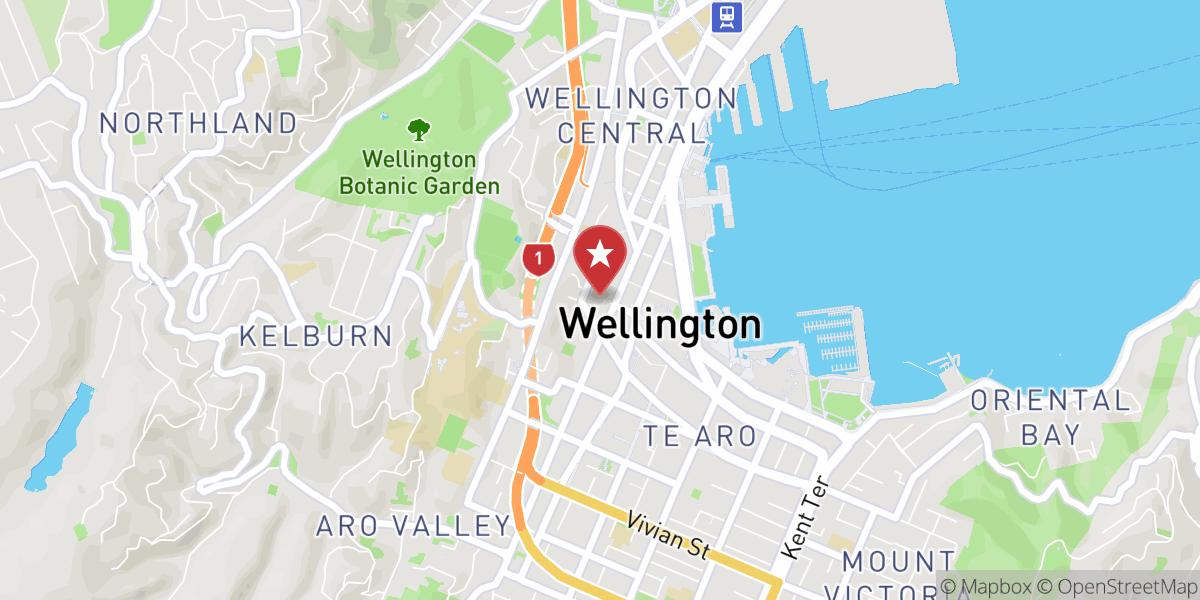 Mapbox Map of 174.77463,-41.288033