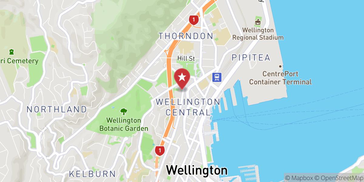 Mapbox Map of 174.775123,-41.280375