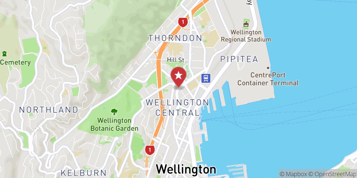 Mapbox Map of 174.7761313111265,-41.28007110473854