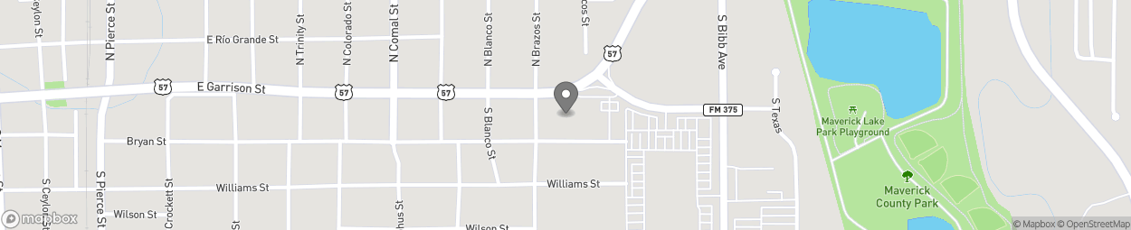 Map of 2058 E Garrison Street in Eagle Pass