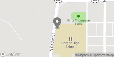 Map of 205 N Cedar Street in Borger