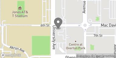 Map of 601 University in Lubbock