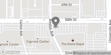 Map of 2625 50th Street in Lubbock