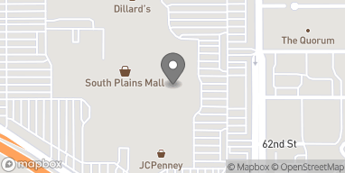 Map of 6002 Slide Rd in Lubbock