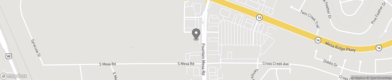 Map of 7960 Fountain Mesa Road in Fountain