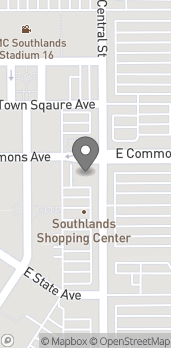 Mapa de 24100 E Commons Ave en Aurora