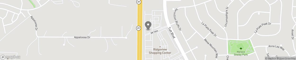 Map of 5826 Tutt Boulevard in Colorado Spring