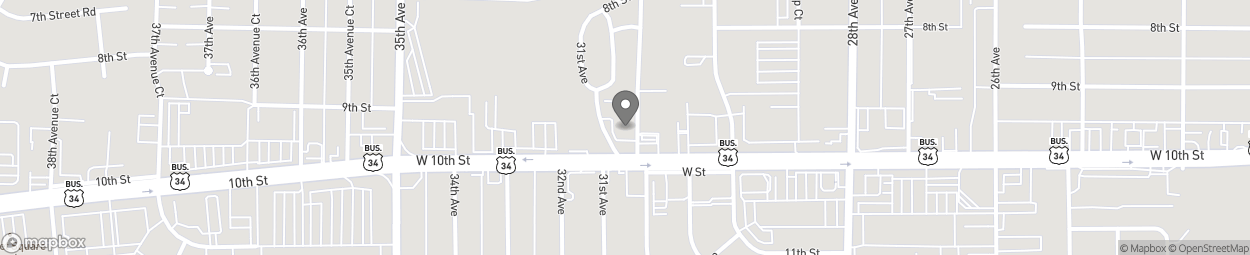 Map of 3025 W 10th St in Greeley