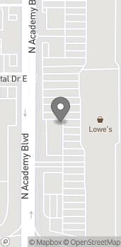 Map of 749 N Academy Blvd in Colorado Springs