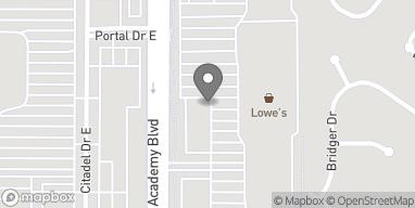 Mapa de 749 N Academy Blvd en Colorado Springs