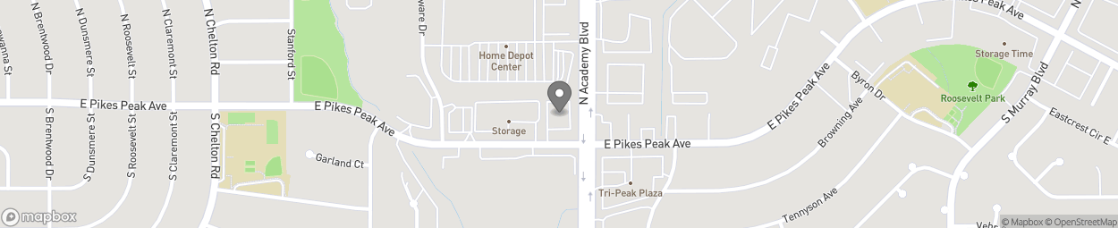 Map of 3784 E Pikes Peak Ave in Colorado Springs