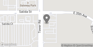 Map of 3450 Tower Road in Aurora