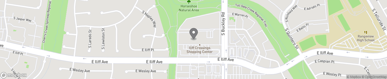 Map of 16791 E Illiff Avenue in Aurora