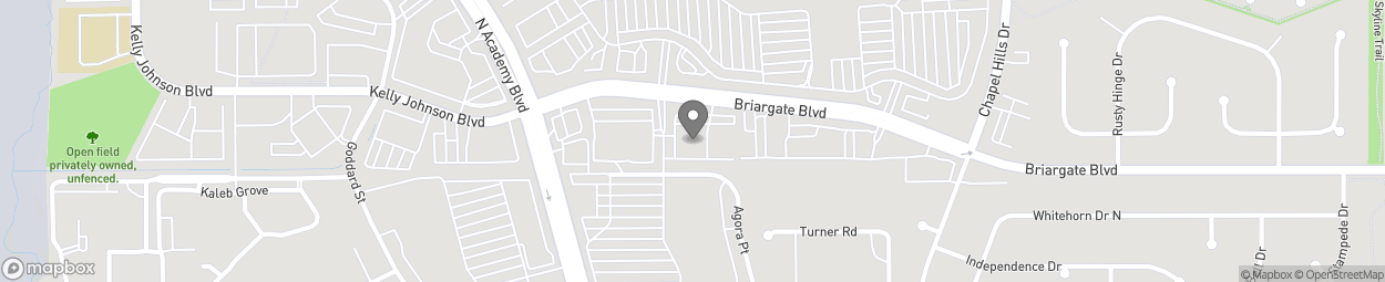 Map of 1595 Briargate Blvd in Colorado Springs