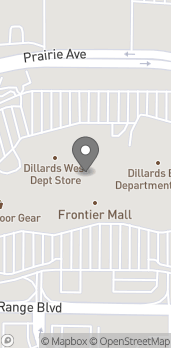 Map of 1400 Dell Range Blvd in Cheyenne