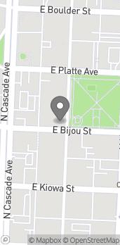 Map of 202 N Tejon St in Colorado Springs