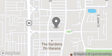 Map of 10651 E Garden Drive in Aurora