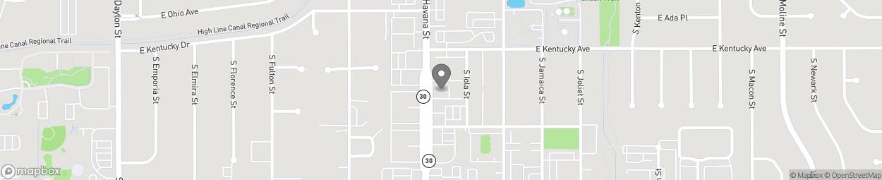 Map of 958 South Havana Street in Aurora