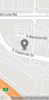 Map of 9078 E Westview Rd in Lone Tree