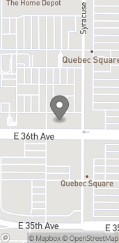 Map of 7507 E 36th Ave in Denver