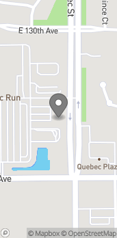 Map of 12879 Quebec St in Thornton