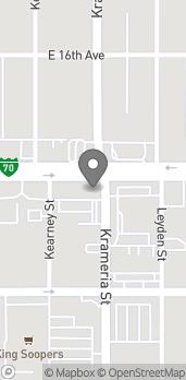 Map of 6160 E Colfax Ave in Denver