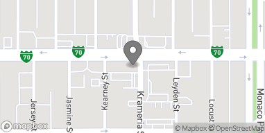 Map of 6160 E Colfax Ave in Denver
