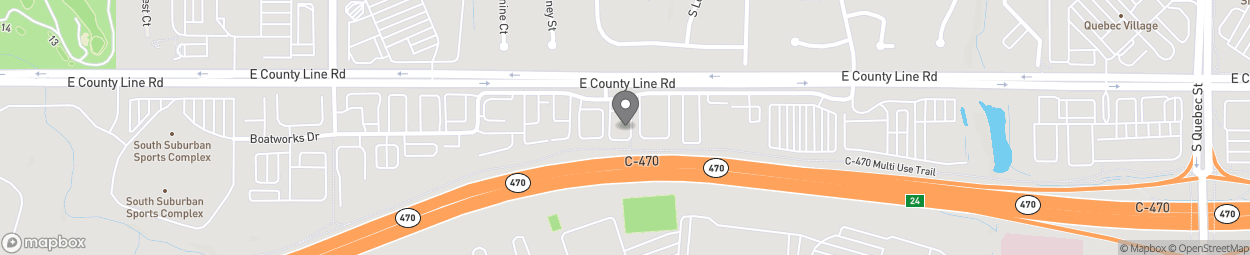 Map of 6148 East County Line Road in Highlands Ranch