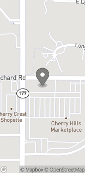 Map of 5900 S University Blvd in Greenwood Village
