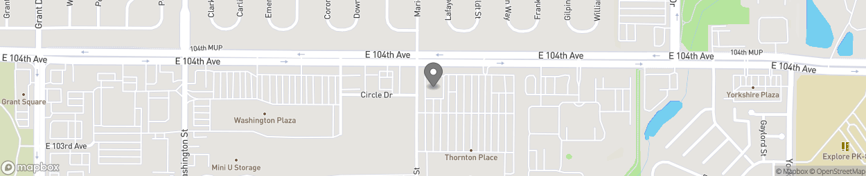 Map of 1300 E 104th Ave in Thornton