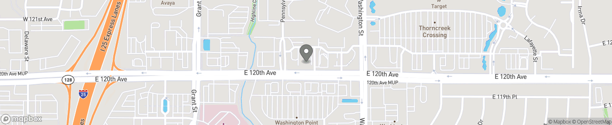 Map of 551 East 120th Avenue in Thornton