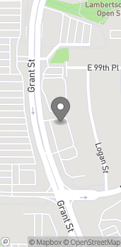 Map of 9894 Grant St in Thornton