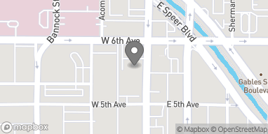 Mapa de 555 Broadway en Denver