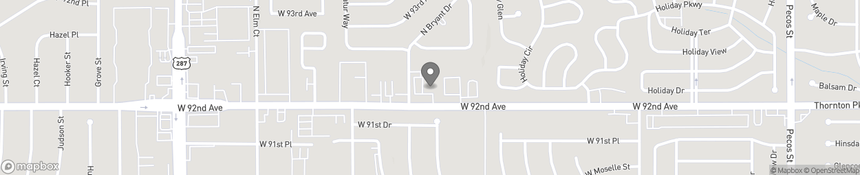 Map of 2265 W 92nd Avenue in Federal Heights