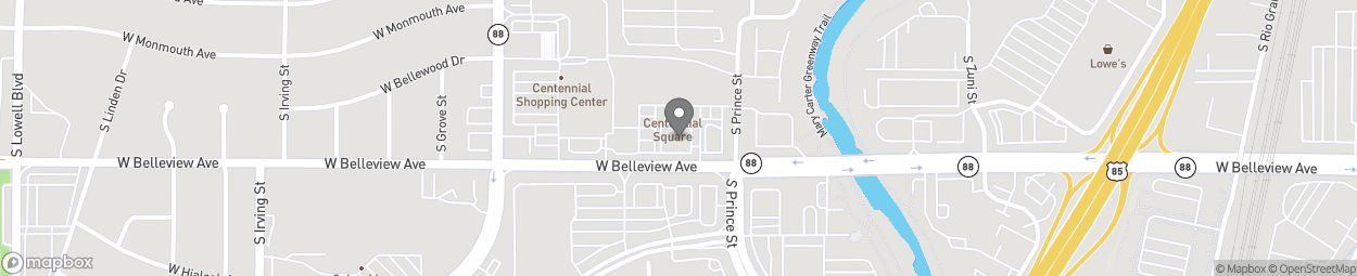 Map of 2737 W Belleview Ave in Littleton