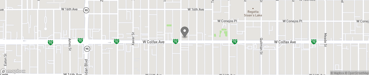 Map of 4545 W Colfax Ave in Denver